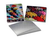 "Sublim8 Aluminum dye sublimation panel 0.025"" X 8"" X 8"" Gloss Clear, 1/8"" radius corners, pack of 10"