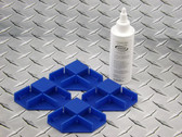 Gallery Wrap Standard Corner kit, Set of 4 positioning corners with 4 oz glue and spare corner pins