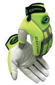 Caiman® Hi-Visibility Goatskin Leather Mechanics Gloves ##2980R ##