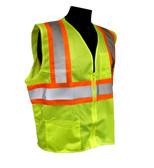Class 2 Two-tone Safety Vests - Zipper Front ##VEST 19 ##