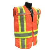 Hi-Vis Orange Two-tone Class 2, Five-Point Breakaway Safety Vests - Vest 21O ##VEST 21O ##