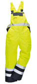 Hi-Vis Lined Bib and Brace - Hi-Vis Yellow ## S489YER ##
