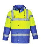 Hi-Vis Traffic Jacket - Hi-Vis Yellow/Royal Blue Bottom ## US466YRB ##