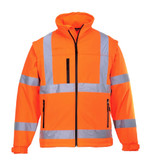 Hi-Vis Softshell Jacket - Safety Orange ## US428ORR ##