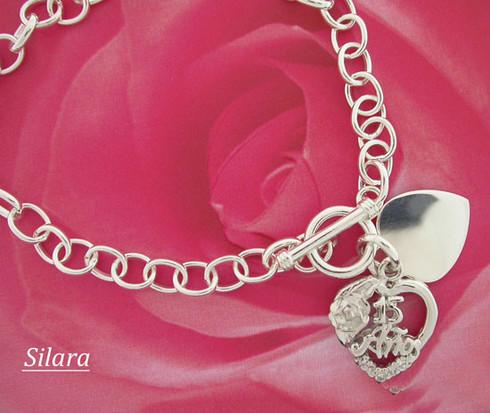 "Quinceanera Bracelet 8"" , 15 Anos"