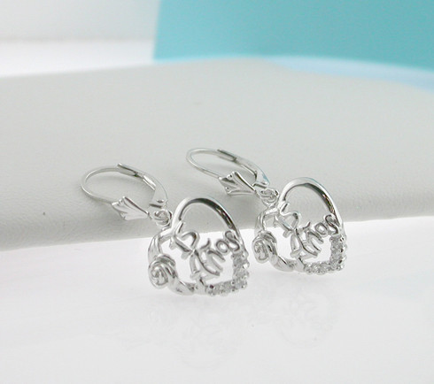 Quinceanera Earrings in Sterling Silver