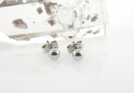 Ball 4m Stud Earring 14Kt White Gold