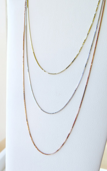 14Kt Gold Chain, available to choose in 3 color gold. Yellow, Rose and White Gold