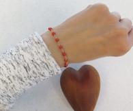 Adult  Red Coral GF Bracelet