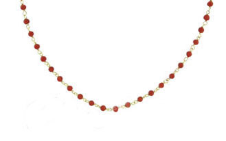 14kt Genuine Red MediterraneanCoral Necklace