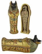 Large Anubis coffin with mummy inside - Photo Museum Store Company