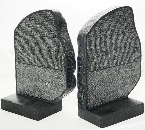 The Rosetta Stone - Bookends (Pair) - Rosetta, Egypt.  203BC - Photo Museum Store Company