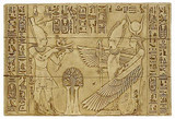 An offering to Isis and Osiris - Temple of Isis, Philae, Egypt.  Dynasty XXVI, 530 B.C. - Photo Museum Store Company