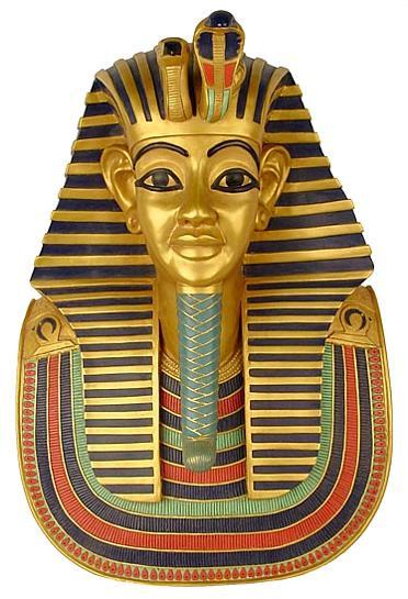 Funerary Mask of King Tutankhamun Plaque (Life size) : Egyptian Museum, Cairo, 1347-1237 B.C. - Photo Museum Store Compa