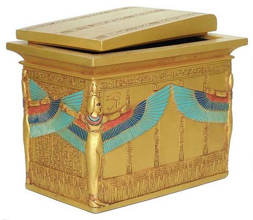 Sarcophagus box of King Tutankhamun, Egyptian Museum, Cairo, Dynasty XVIII, 1347-1237 B.C. - Photo Museum Store Company