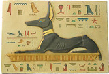 Reclining Anubis relief - color finish - Photo Museum Store Company