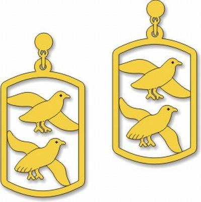 Egyptian Birds Earrings - Photo Museum Store Company