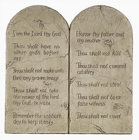 Ten Commandments (Decalogue) - Small 10 Commandments - Photo Museum Store Company