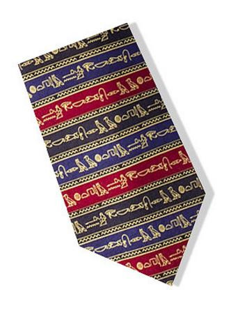 Museum Designs Hieroglyphics Necktie - Egyptian Design Necktie - Photo Museum Store Company