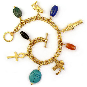 Egyptian Charm Bracelet - Photo Museum Store Company