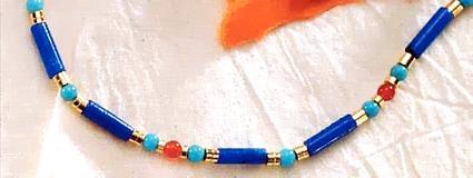 Egyptian Lapis & Turquoise Necklace - Photo Museum Store Company