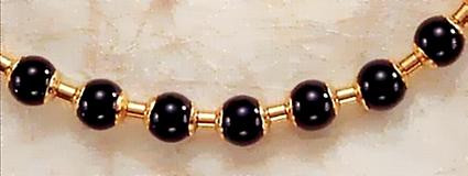Middle Kingdom Black Onyx Necklace -  Egyptian, 2100 - 1700 B.C. - Photo Museum Store Company