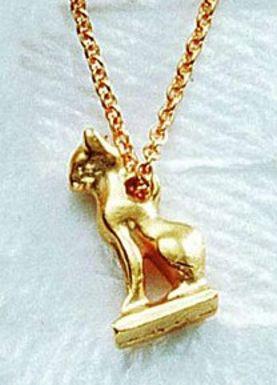 Cat Amulet Pendant - Egyptian, 940 - 730 B.C. - Photo Museum Store Company