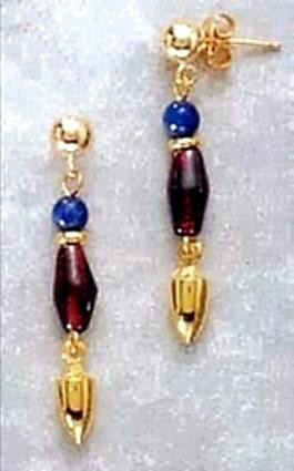 Nile Earrings with Lotus Petals - Egyptian - Photo Museum Store Company