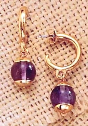Middle Kingdom Amethyst Earrings - Egyptian, 2100 - 1700 B.C. - Photo Museum Store Company
