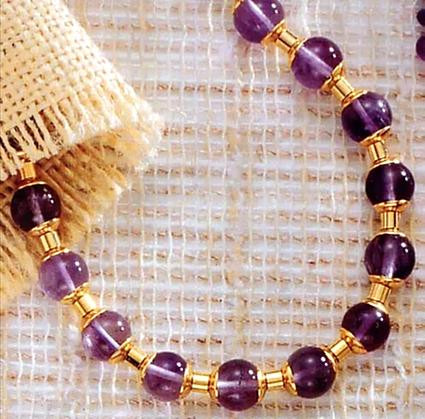 Middle Kingdom Amethyst Necklace -  Egyptian, 2100 - 1700 B.C. - Photo Museum Store Company