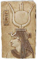 Cleopatra Relief (Posing as Isis) - Temple of Denderah, Egypt. 35 B.C. - Photo Museum Store Company