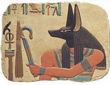 Anubis Relief - Painted, Temple of Abydos, Egypt - 1317B.C. - Photo Museum Store Company