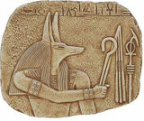Anubis Relief :  Temple of Abydos, Egypt. Dynasty XIX, 1300 B.C. - Photo Museum Store Company