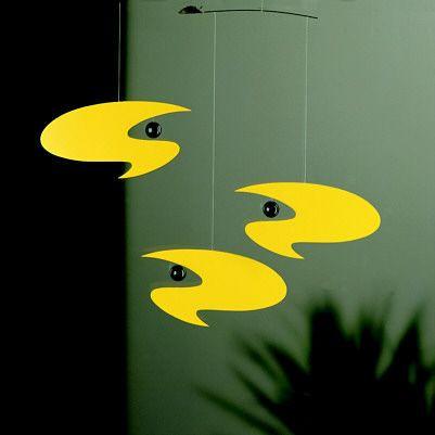 Stella Nova, Yellow  - Abstract Art Mobile, Denmark - Photo Museum Store Company