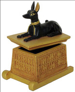 Small Anubis box : Egyptian Museum, CairoDynasty XVIII, 1347-1237 B.C. Egyptian Museum, Cairo - Photo Museum Store Compa