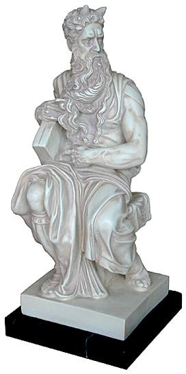 Moses, by Michelangelo : Church of Saint Peter (San Pietro) in Vincoli, Rome, 1515 A.D. - Photo Museum Store Company