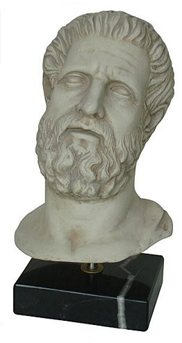 Bust of Hippocrates - National Archaeological Museum, Athens, Greece, 300 B.C. - Photo Museum Store Company