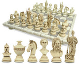 Greek chess set and board - Photo Museum Store Company