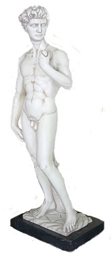 David by Michelangelo on marble base - Photo Museum Store Company