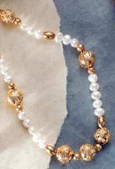 Granulation Button & Pearl Necklace - Photo Museum Store Company