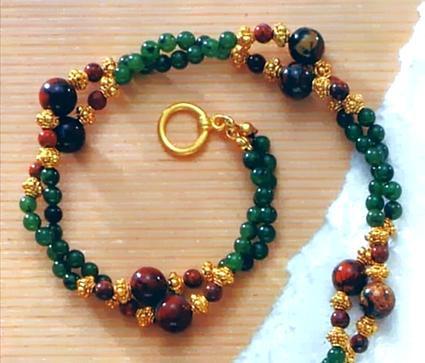 Jade & Jasper Twist Necklace, Gemstone - Photo Museum Store Company