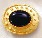 Olbia's Treasure Black Onyx Brooch - Greek, ca. 200 B.C., Walters Art Museum - Photo Museum Store Company