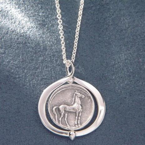 Greek Horse Coins Necklace : 340 to 242 BC & 359 to 336 BC - Photo Museum Store Company