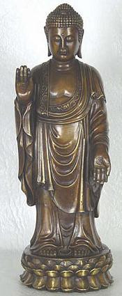 Standing Buddha in pose of dispelling fear and protection - Photo Museum Store Company