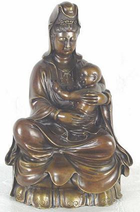 Large Kuan-Yin with Baby - Photo Museum Store Company