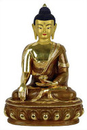 Buddha, Earth touching pose, 8H gold plated - Photo Museum Store Company