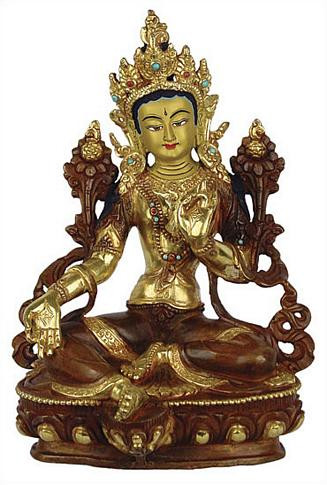 Green Tara, 8H gold plated - Photo Museum Store Company