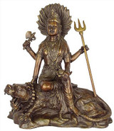 Durga seated on a tiger - Photo Museum Store Company