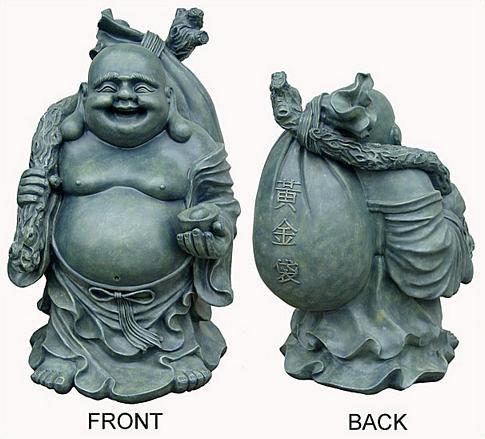 Standing Happy Buddha - Photo Museum Store Company