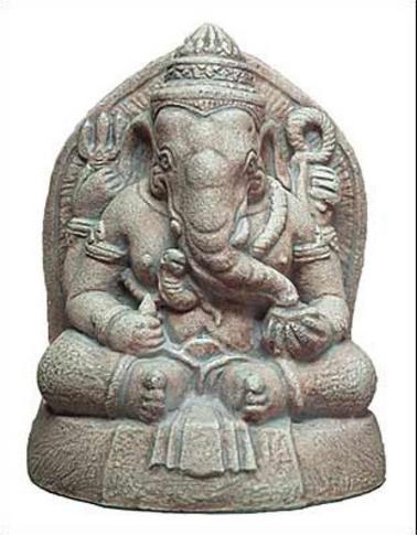 Small Ganesh (Seated Ganapati, the elephant headed God of Wisdom and Success) - Photo Museum Store Company